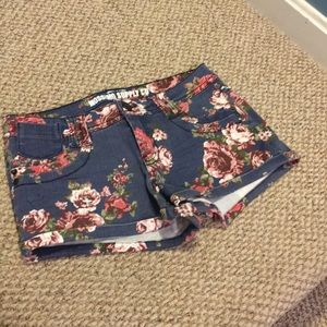 MOSSIMO SUPPLY CO Floral Denim Shorts